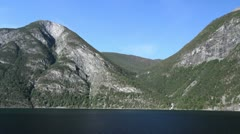 Norway mountains above Sognefjord Stock Footage