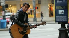 Street Musician, Busker Stock Footage