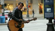 Stock Video Footage of Street Musician, Busker