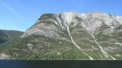 Norway a mountain above Sognefjord timelapse c Stock Footage