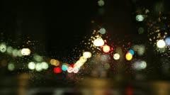 Boston red light rain Stock Footage