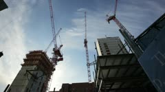 Boston construction harbor walk Stock Footage