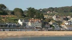 Lyme Regis Coastal Town Stock Footage
