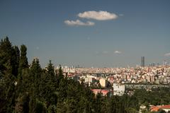 View of the golden horn from pierre loti hill Stock Photos
