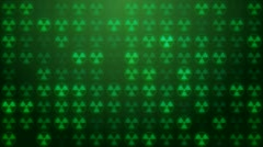 Nuclear radiation symbol screen loop background. - stock footage