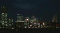 Minato Mirai 21 at twilight, Yokohama, Japan Stock Footage