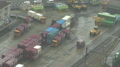 Container truck in Osaka, Japan Stock Footage