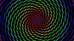 color pieces hypnotize - stock footage