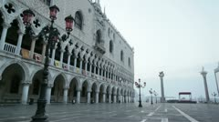 Doge's Palace in St. Mark square Venice Italy Stock Footage