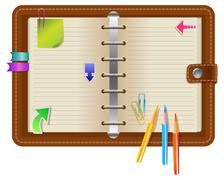 Personal organizer Stock Illustration