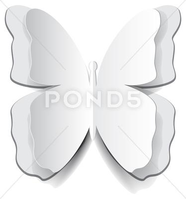 Stock Illustration of paper origami butterfly