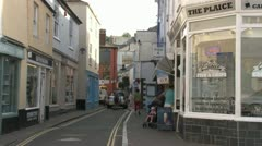 Salcombe  Village Centre Stock Footage