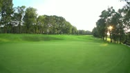 Stock Video Footage of Golf course hole overview beauty
