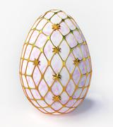easter - marble egg - stock illustration