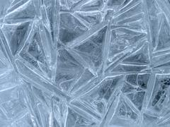 structure of ice closeup - stock photo