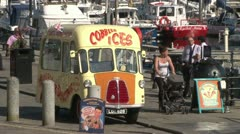 Classic Ice Cream Van Stock Footage
