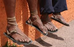 Famous Tarahumara Sandals - stock photo
