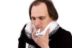 sick throat - stock photo