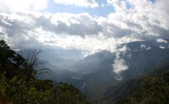 Urique Mountain View- Home of Tarahumara Indians - stock photo