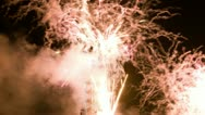 Firework Melbourne 2013, time lapse Stock Footage