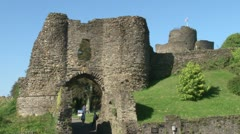 Launceston Motte & Bailey Castle Stock Footage