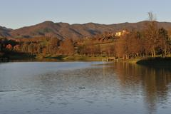 Stock Photo of lake of vicchio (florence)