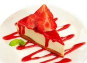 Strawberry cheesecake Stock Photos