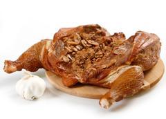 Smoked chicken Stock Photos