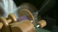Hand spinning loom Stock Footage