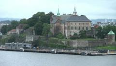 Oslo castle Stock Footage