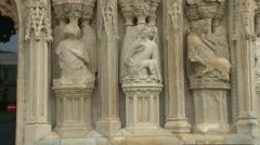 Exeter Cathedral Figures Stock Footage