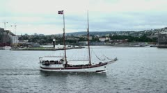 Oslo sailing excursion ship s2 Stock Footage