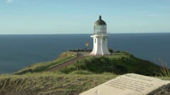 Cape Reinga Lighthouse 4 Stock Footage