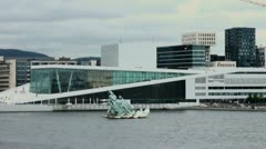 Oslo opera house s2 Stock Footage