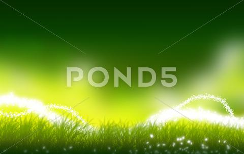Stock Illustration of mystic green meadow