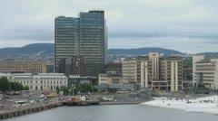 Oslo tall buildings Stock Footage
