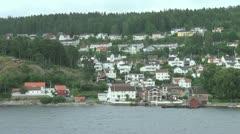 Oslo Fjord island 3 Stock Footage
