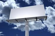 Stock Illustration of white 3d billboard