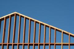 house frame - stock photo