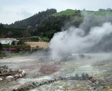 Hot spring at the azores Stock Photos