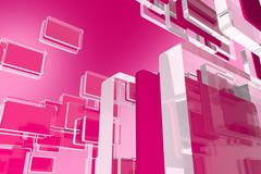 Pink Glassy Blocks Background Stock Illustration