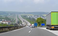 Highway scenery in southern germany Stock Photos