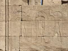 Stock Photo of relief at the temple of edfu in egypt