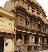 city view of jaisalmer - stock photo