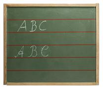 Abc blackboard Stock Photos