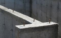 cement structure - stock photo