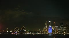 Sydney night skyline Stock Footage
