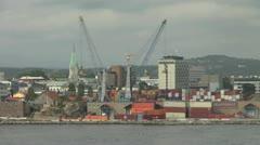 Norway Kristiansand docks timelapse s Stock Footage