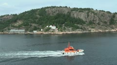 Norway Kristiansand pilot boat Stock Footage
