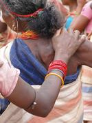Tribal women link arms Stock Photos